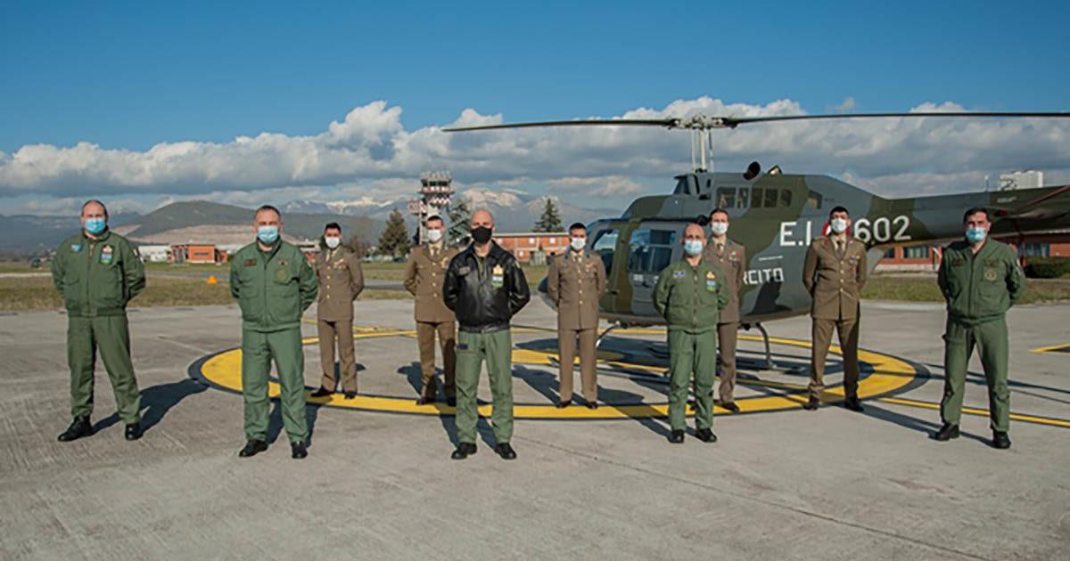 FROSINONE – Brevetto Militare di Pilota di Elicottero per cinque uomini dell'Esercito Italiano