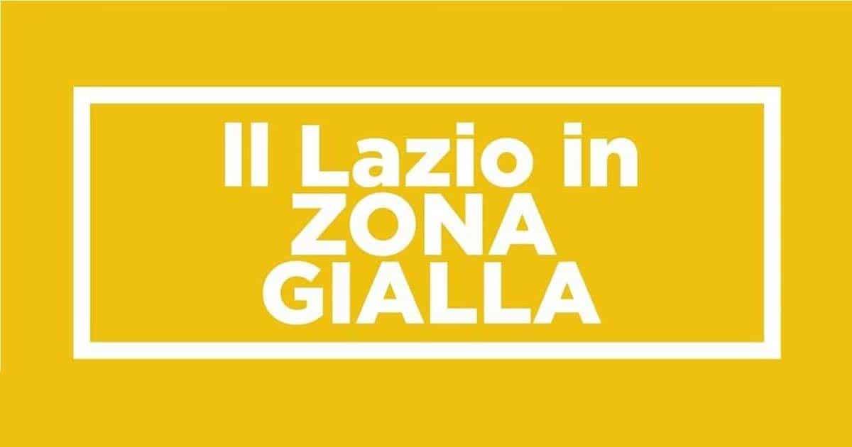 Dal 1° Febbraio il Lazio torna in Zona Gialla