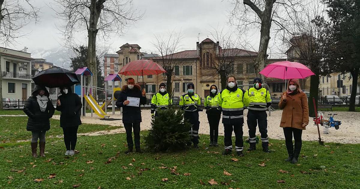 """SORA – Progetto A.B.E.T.E., 4 alberi piantati nel Parco """"Santa Chiara"""""""