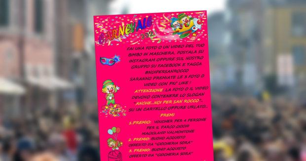 """SORA – Carnevale 2021: l'iniziativa di """"Noi per San Rocco"""""""