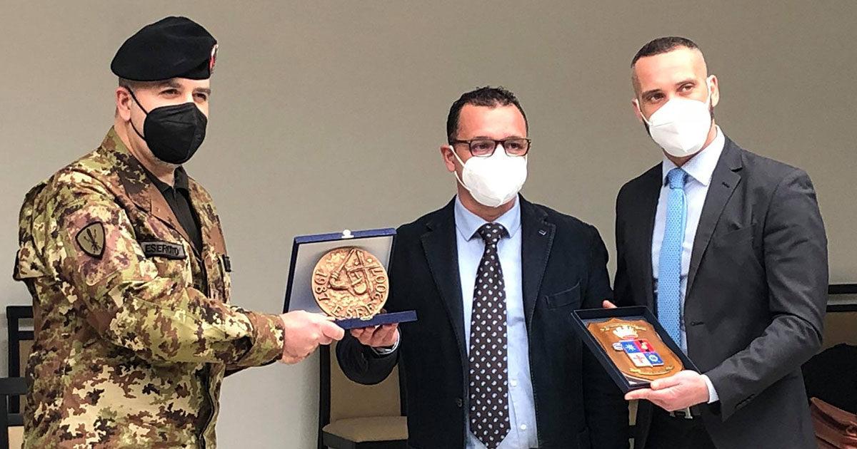 """Importante accordo in materia di formazione tra 41° Reggimento """"Cordenons""""e ESEF-CPT Sora"""