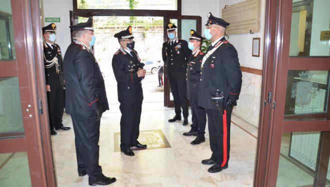 Il Generale di Corpo d'Armata Carmelo Burgio visita il Comando Provinciale dei Carabinieri di Frosinone