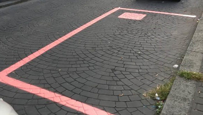 SORA – Parcheggi Rosa, inaugurazione di un nuovo stallo nel rione Napoli