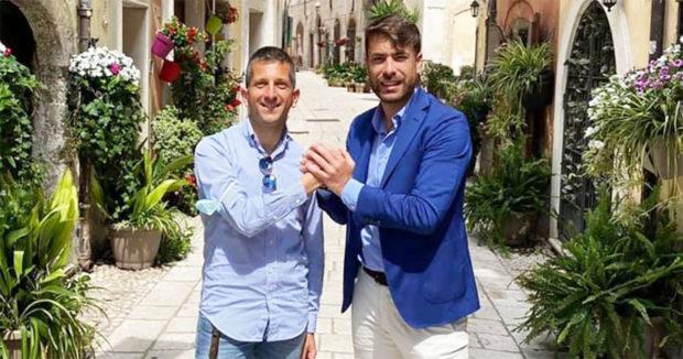 ELEZIONI SORA 2021 – Stefano Lucarelli con il candidato a Sindaco Luca Di Stefano