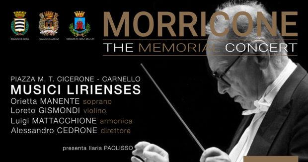"""CARNELLO – 6 Luglio: """"Morricone The Memorial Concert"""" e poi maxischermo per Spagna-Italia"""