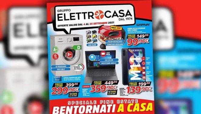 """Gruppo Elettrocasa: """"Speciale fine estate"""". Il nuovo volantino con tutti i prodotti in promozione"""