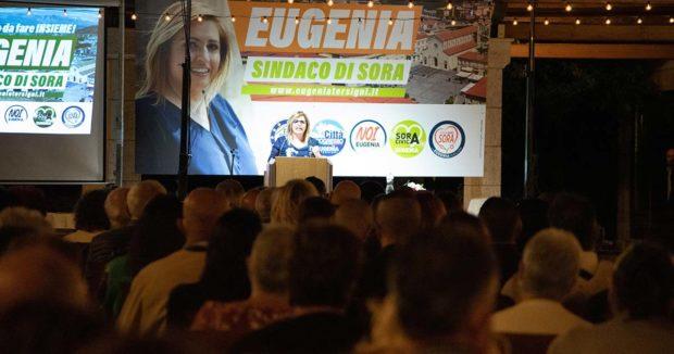 ELEZIONI SORA 2021 – Eugenia Tersigni presenta il suo progetto: è bagno di folla