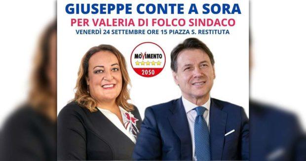 ELEZIONI SORA 2021 – A Sora arriva Giuseppe Conte a sostegno di Valeria Di Folco