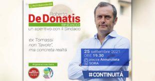 ELEZIONI SORA 2021 – Roberto De Donatis: «Ex Tomassi, non favole ma concreta realtà»