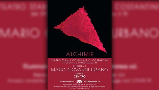 """ISOLA DEL LIRI – Mario Giovanni Urbano presenta la mostra """"Alchimie"""""""